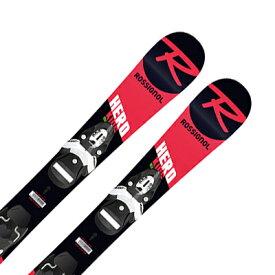 スキー板 ROSSIGNOL ロシニョール キッズ ジュニア 2022 HERO PRO + TEAM 4 BLK ビンディング セット 取付無料 21-22 NEWモデル 〔SA〕