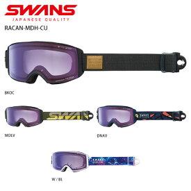 ゴーグル SWANS スワンズ 2021 RACAN-MDH-CU ラカン-MDH-CU ASIAN FIT 眼鏡・メガネ対応ゴーグル 20-21 旧モデル スキー スノーボード