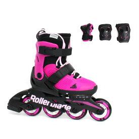 Rollerblade〔ローラーブレード ジュニアインラインスケート〕COMBO G〔PINK/BUBBLEGUM〕 プロテクター付 サイズ調整可能 キッズ