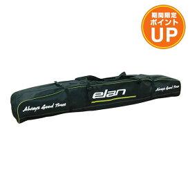 【エントリーでポイント10倍】ELAN〔エラン 2台用 スキーケース〕<2020>SKI BAG DOUBLE 3 CJ000816〔BK/GRN〕