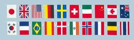 日本製 テトロン 万国旗 (ポリエステル) 連続ひも付き 20ヶ国