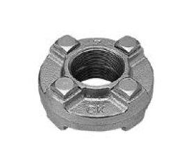 シーケー金属 鋼管用ネジ込 白継手 組みフランジ:F 150∴