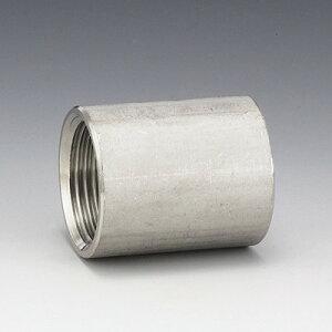 SUS304 ネジ込継手 ソケット : ソケット 10A (VSO -03) (04101103)∴(3/8B) ステンレス ねじ 配管 捻 継手 給水 給湯 冷温水 エア 蒸気 蒸気還管 高温水 消火 消防 SP スプリンクラー 接手