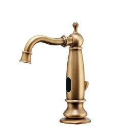 KAKUDAI センサー水栓//オールドブラス (床出 100V) (旧713-356)713 -350-AB R02従∴2021掲載カタログ頁 85 カクダイ kakudai