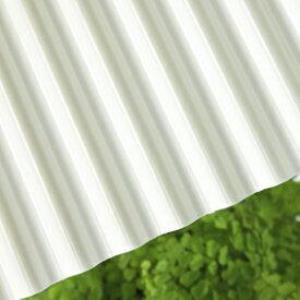 タキロン ポリカナミイタ 鉄板小波(32波) 740 ミルク:PCナミ32R 740 10尺(3030x655x0.7) (217002) 10枚入り ∴タキロンシーアイ ポリカーボネート 波 板 壁 車庫 倉庫 屋根 外壁