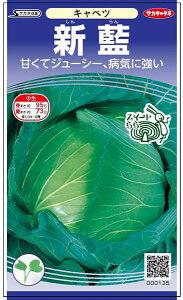 初夏・秋どりキャベツ 種 『新藍』 ペレット5000粒 サカタのタネ