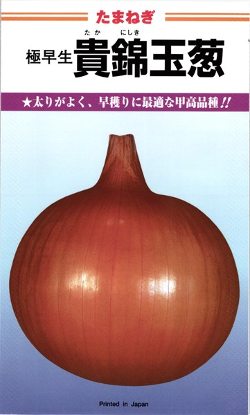 極早生タマネギ 種 『貴錦』 20mlカネコ種苗