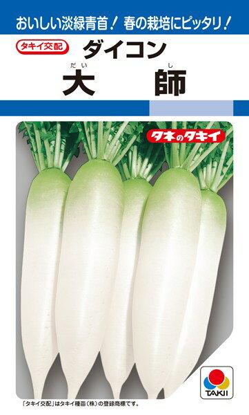 春〜夏どりダイコン 種 『大師』 20ml タキイ種苗