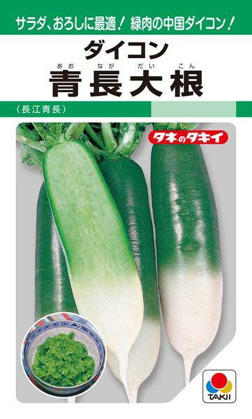 中国ダイコン 種 『青長大根(長江青長)』 10ml(GF) タキイ種苗