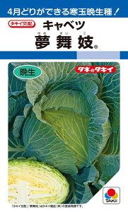年内〜冬どりキャベツ 種 『夢舞妓』 ペレットL5000粒 タキイ種苗