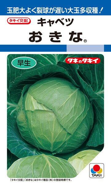 夏秋どりキャベツ 種 『おきな』 2ml(DF) タキイ種苗