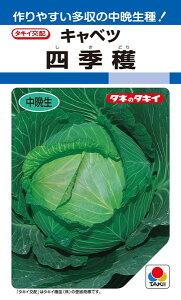 年内〜冬どりキャベツ 種 『四季穫』 2000粒 タキイ種苗
