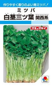 ミツバ 種 『白茎三ツ葉(関西系)』 15ml(MF) タキイ種苗