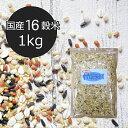【国産16穀米KX 1kg】送料無料 十六穀米 送料無料 業務用 種商 はだか麦 大麦 もち玄米 もちきび もちあわ 黒米 ひえ もち麦 アマラン…