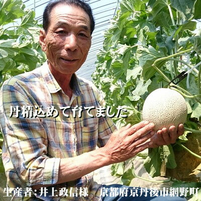 【MASANOBUメロン】砂丘メロン・御中元・高級メロン・秀ランク・かにはん・丹後メロン・アールスメロン・アールスセーヌ・農家厳選メロン・3Lサイズ・井上農園