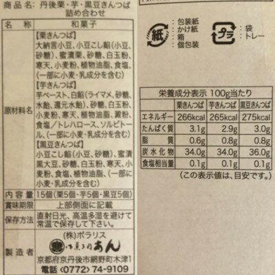 御菓子司あん★三種きんつば詰合せ原材料表示