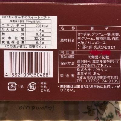 御菓子司あん★おいものまんまのSweetPotato原材料表示