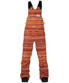BURTON Women's Zealous Bib Pant 2017FW FC Spiced Coral Stripe