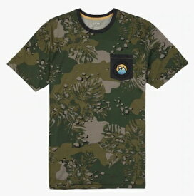 Men's Burton Fox Peak Short Sleeve T Shirt 2018SS Forestnight Hawaiian