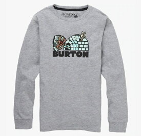 Boys' 子供用 Burton Cupajo Long Sleeve T Shirt TEE 2019FW Gray Heather