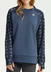 Women's Burton Oak Crew Sweatshirt 2019FW Mood Indigo Heather / Float Away