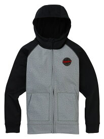 Boys' Burton Crown Bonded Full-Zip Hoodie2020FW Gray Heather