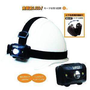 ヘッドライト 6個セット 切換3段階 高輝度 LED 3W 照明 器具 ヘルメット用 ランプ アウトドア 釣り キャンプ 作業用 工事用 ヘッドバンド付 【モード切換3段階!ノンスリップヘッドバンド付!