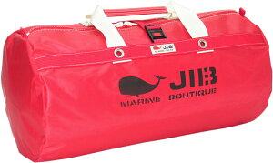 JIB ラージダッフルバッグ DLG210 レッド/アイボリーハンドル67×φ35cm 約64L