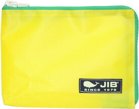 JIB マイクロクラッチラージ Mサイズ MCM28 イエロー×グリーンファスナー/ダークネイビータグ 21×15×2.2cm