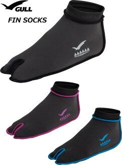 GULL鰭短襪GA-5640男女兼用2mm氯丁橡膠的tabi型短襪全3色XS-XL尺寸