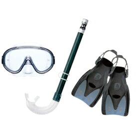 【値下げしました】 リーフツアラー 旅行用スノーケリング3点セット RP1014Z エラストマー製 男女兼用 全2色