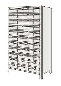 サカエ 物品棚LEK型樹脂ボックス LEK1112-33T 【個人宅配送不可】