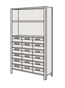 サカエ 物品棚LEK型樹脂ボックス LEK1129-18T 【個人宅配送不可】