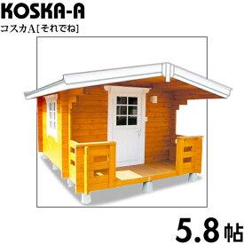 【BIGBOX】ミニログハウスキット コスカA ログ厚50mm(5.8帖)
