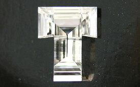 「T」字形 ダイヤモンド ルース 0.217ct, Fカラー, VS-2, 中央宝石研究所 イニシャルが「T」の方に。 【送料無料】