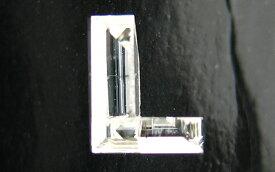 「L」字形 ダイヤモンド ルース 0.109ct, Gカラー, SI-1, 中央宝石研究所 イニシャルが「L」の方へ。 【送料無料】