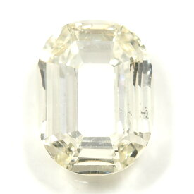 「O」字形 ダイヤモンド ルース 0.335ct, Lカラー, SI-2, オーバル・ステップ・カット, 中央宝石研究所 イニシャルが「O」の方へ 【送料無料】