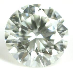 【 蛍光性 : ストロング・グリーン 】 天然グリーンダイヤモンド ルース(裸石) 0.525ct, VVS-2【 中央宝石研究所ソーティング袋付 】 【 送料無料 】