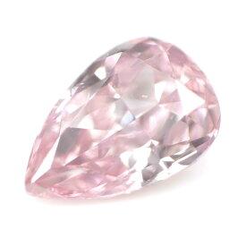 ピンクダイヤモンド ルース (裸石) 0.08ct(GIA), Fancy Intense Pink (GIA), Fancy Intense Purplish Pink (AGT), SI-1, ペアシェイプ GIA,AGTジェムラボラトリー 【 送料無料 】