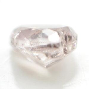 天然ピンクダイヤモンドルース(裸石)0.045ct,FancyLightPink,SI2,ハート【中央宝石研究所ソーティング袋付】【送料無料】