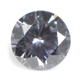 【 おそらくオーストラリア・アーガイル鉱山産】天然バイオレットダイヤモンド ルース(裸石) 0.109ct ファンシー・ディープ・(グレー)・バイオレット 【 送料無料 】【round010】