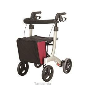 介護用品 歩行車 リトルターン 抑速付 タイプ ワインレッド アロン化成 532-323 歩行器 介護用 リハビリ 高齢者用