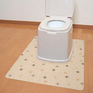 おくだけ吸着 ポータブルトイレマット 90×70cm 介護用品