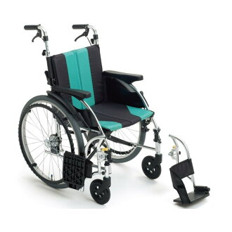 Folding module wheelchair aluminum assistance wheelchair UR-3 Miki care article hkz