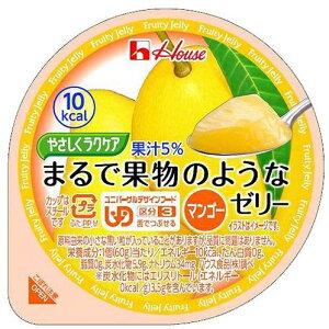 介護食 やさしくラクケアシリーズ まるで果物のようなゼリーマンゴー 60g×10個 区分3 舌でつぶせる