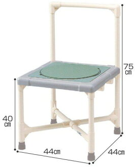 Bath chair shower chair turntable type back type CAT-0301 shower bench bearing surface turn care article