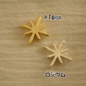 【ハンドメイドパーツ素材】アンティーク風・メタルチャーム・デコ・K16GPゴールド・星(7個入)【BM10-K16】