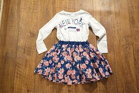 BoomyRoomy ブーミールーミー NEWYORK花柄スカートドッキングワンピース 子供服 メール便OK 17'春夏新作