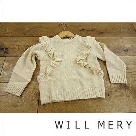 【セール/30%OFF】WILLMERY ウィルメリー 肩からフリルニットセーター 子供服 18'秋冬新作