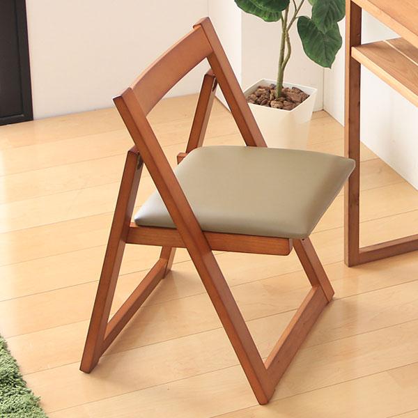 【送料無料】 完成品 天然木 コンパクト チェア GF-0843C 折りたたみ 椅子 いす イス チェアー 折り畳み 木 木製 シンプル ナチュラル 北欧 省スペース 折りたたみチェア 折畳み 背もたれ付
